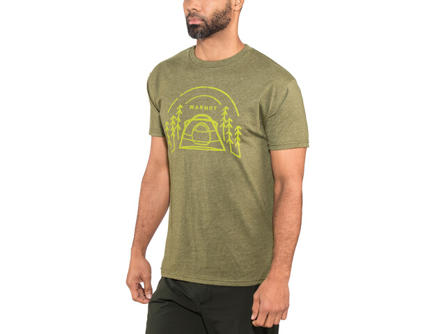Marmot Camp Outdoor SS Tee Herren olive heather